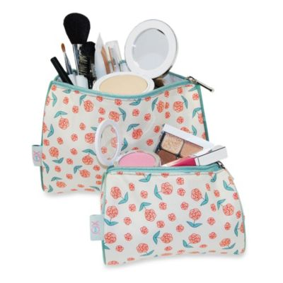 BlueAvocado® (eco) Designed by Lauren Conrad 2-Piece Pouch Kit in Ivory Roses