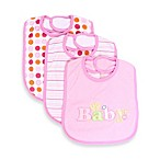 SpaSilk® Baby Applique 3-Pack Bib Set in Pink