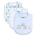 SpaSilk® Baby Applique 3-Pack Bib Set in Blue
