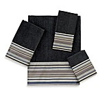 Avanti Maxfield Stripe Fingertip Towel in Granite