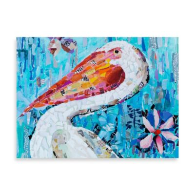 Fabrice de Villeneuve Studio Pelican Charm Printed Canvas Wall Art