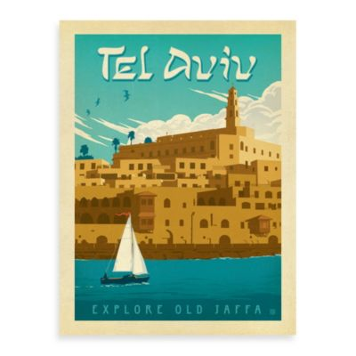 Tel Aviv Vintage Travel Printed Canvas Wall Art