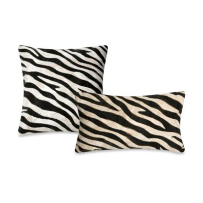 Liora Manne 20-Inch Square Throw Pillow in Zebra