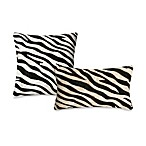 Liora Manne Outdoor Toss Pillow Collection in Zebra
