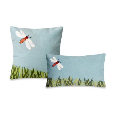 Liora Manne Square Outdoor Throw Pillow in Dragonfly