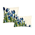 Liora Manne Outdoor Toss Pillow Collection in Allover Tulips