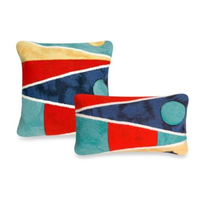 Liora Manne 20-Inch Square Throw Pillow in Flag