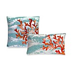 Liora Manne Outdoor Toss Pillow Collection in Coral Wave