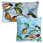 Liora Manne Outdoor Toss Pillow Collection in Blue Song Birds