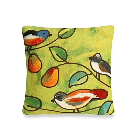 Outdoor Throw Pillows Birds : Liora Manne Outdoor Throw Pillow Collection in Song Birds - www.BedBathandBeyond.com