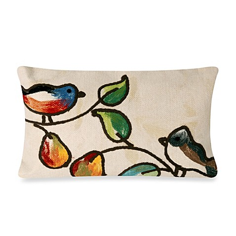 Buy Liora Manne Oblong Outdoor Throw Pillow in Song Birds Cream from Bed Bath & Beyond