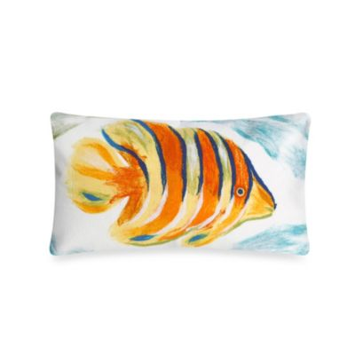 Liora Manne 12-Inch x 20-Inch Oblong Throw Pillow in Angel Fish