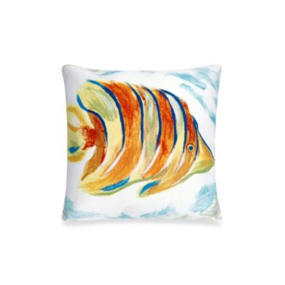 Liora Manne 20-Inch Square Throw Pillow in Angel Fish