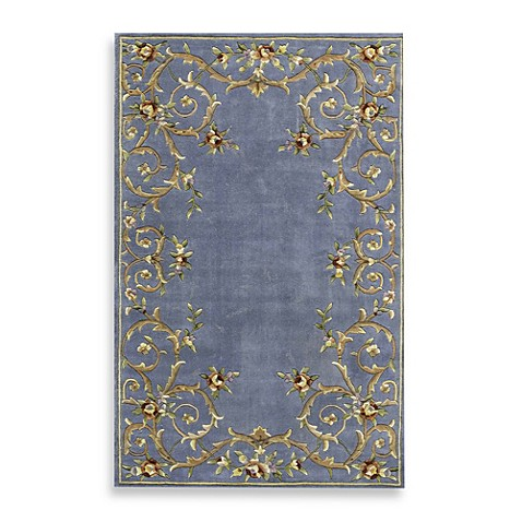 Rugs America Flora Rug in Lake Blue