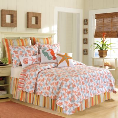 Coral Catalina Quilt in Coral