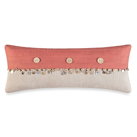 Natural Shells Oblong Throw Pillow in Coral