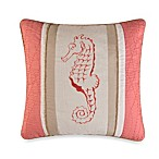 Natural Shells Coral Seahorse Square Toss Pillow
