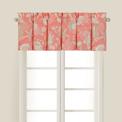 Natural Shells Coral Window Valance