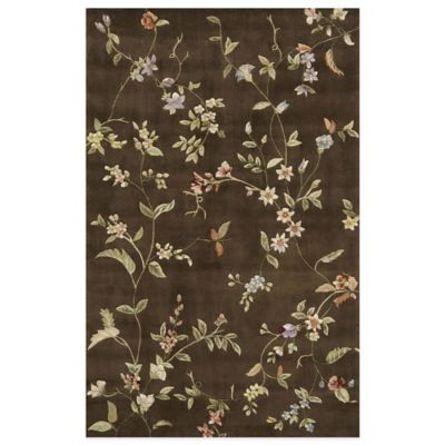 Rugs America Flora 5-Foot x 8-Foot Rug in Mocha Brown