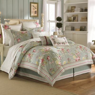 Laura Ashley® Eloise Comforter Set in Aqua