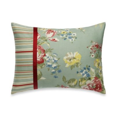 Laura Ashley® Eloise Oblong Breakfast Pillow in Aqua