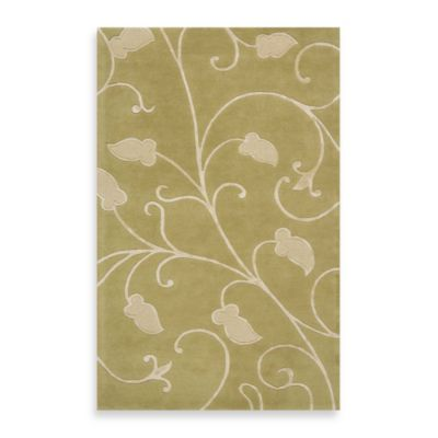 Rugs America Millennium 1-Foot 6-Inch x 8-Foot Runner in Sour Apple