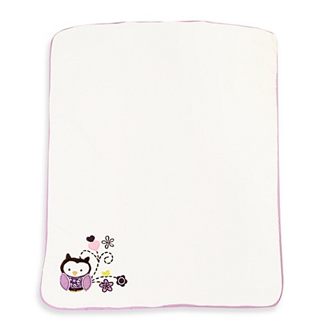 Baby S First By Nemcor Plum Owl Meadow Blanket Buybuy Baby