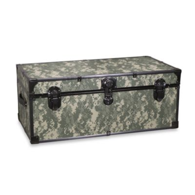 "Mercury Luggage 30"" Storage Footlocker with Wheels in Camouflage"