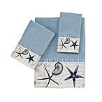 Avanti Antigua Blue Fog Washcloth