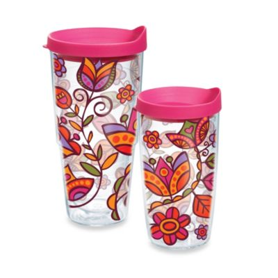 Tervis® Pink Flower 16–Ounce Wrap Tumbler with Lid