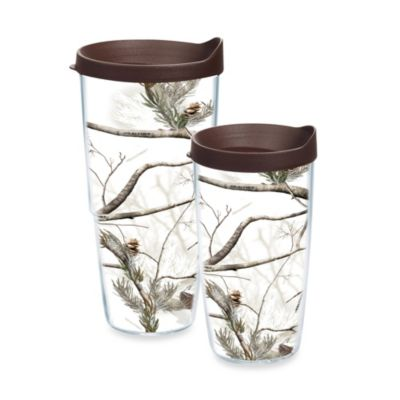 Tervis® Realtree AP Snow 24-Ounce Wrap Tumbler with Brown Lid