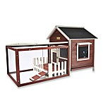 Advantek 'White Picket Fence' Rabbit Hutch in Auburn