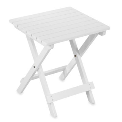 Adirondack Side Table in White