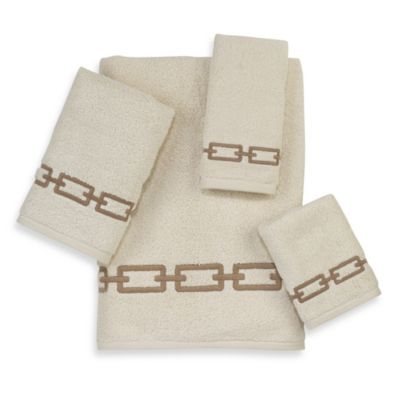Avanti Madison Palmdale Washcloth in Ivory