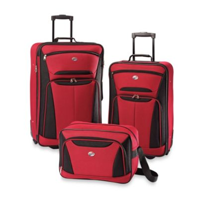 American Tourister® Fieldbrook II 3-Piece Luggage Set in Red/Black