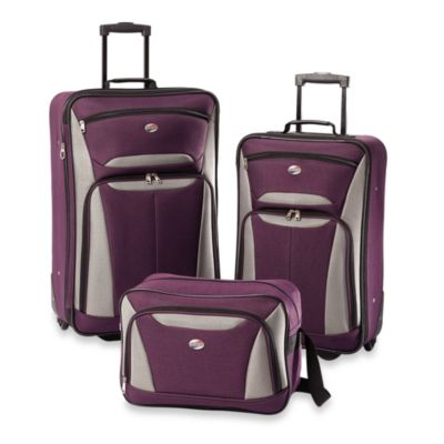 Purple/Grey Luggage Sets