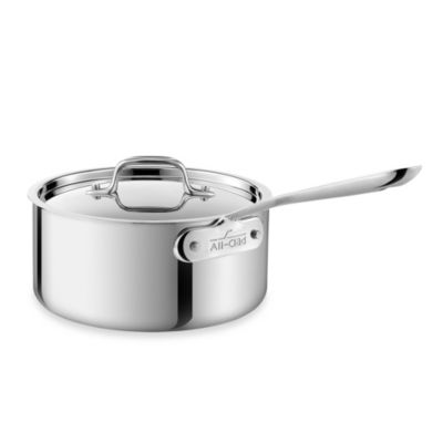 All-Clad Stainless Steel 3-Quart Covered Saucepan