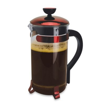 Red Coffee Maker Press