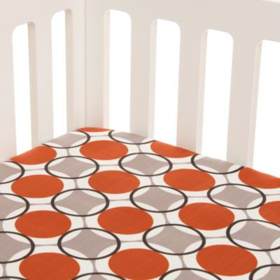 Glenna Jean Echo Fitted Crib Sheet in Circles