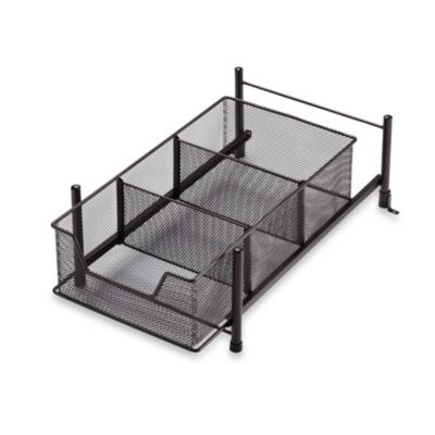Simple Solutions Medium Mesh Cabinet Drawer in Matte Bronze