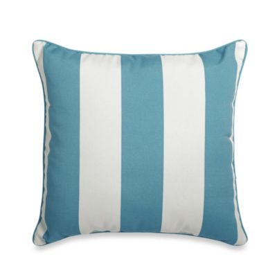 20-Inch Square Toss Pillow in Cabana Stripe