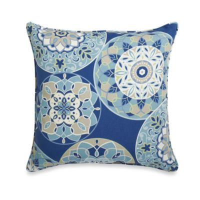 17-Inch Square Throw Pillow in Circles
