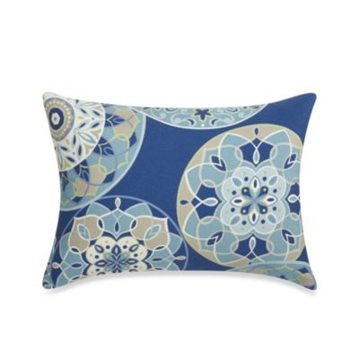 12-Inch x 16-Inch Rectangular Toss Pillow in Circles