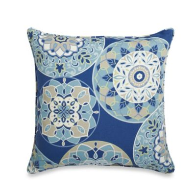 20-Inch Square Throw Pillow in Circles