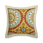 18-Inch Square Decorative Pillow with Trim in Sunset