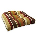 4.5-Inch Thick Tufted Cushion in Chocolate Stripe