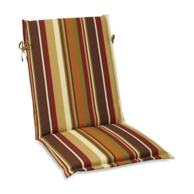 Reversible Sling Cushion with Ties in Chocolate Stripe