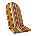Adirondack Cushion with Ties in Chocolate Stripe