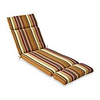 Chaise Cushion in Chocolate Stripe