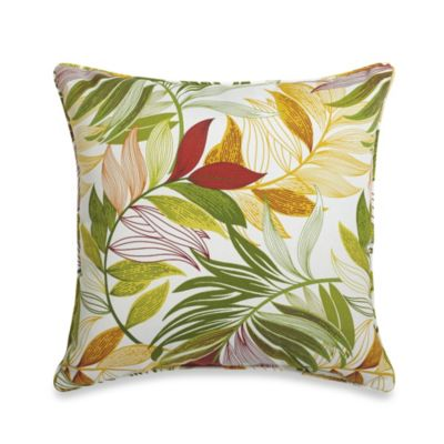 20-Inch Square Throw Pillow in Leaf